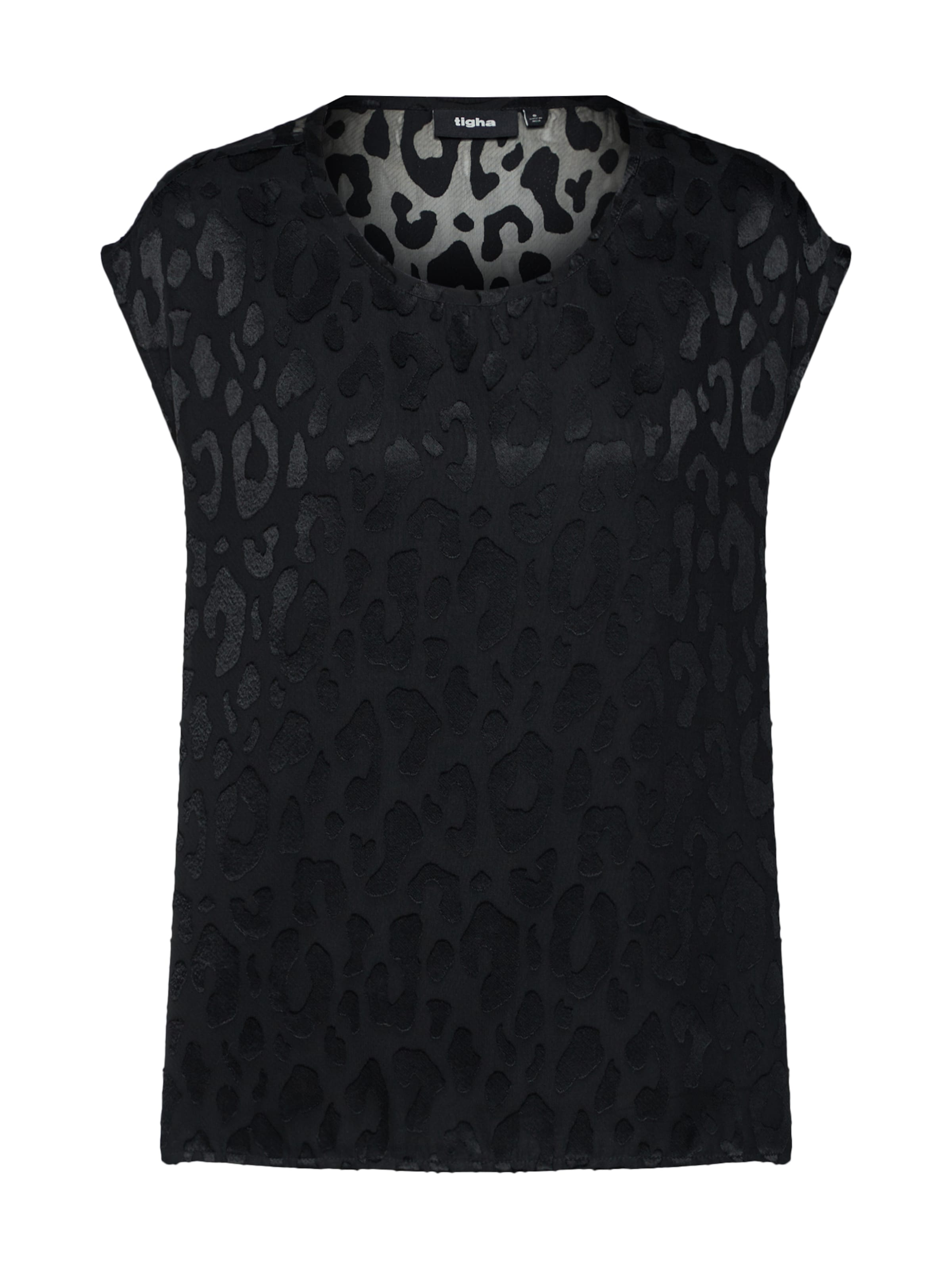 En Tigha shirt T Leo' Noir 'linja 7fgyYb6