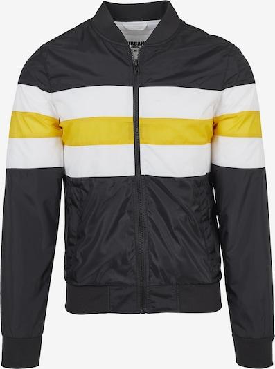 Urban Classics Tussenjas in de kleur Geel / Zwart / Wit, Productweergave