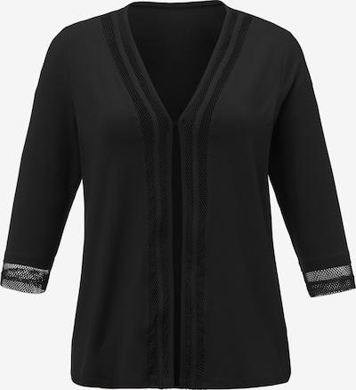 Anna Aura Gebreid vest in de kleur Zwart, Productweergave