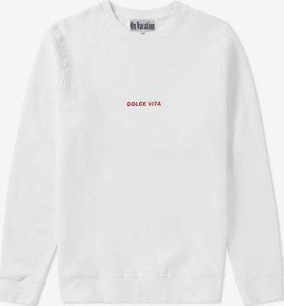 On Vacation Sweatshirt in rot / weiß, Produktansicht