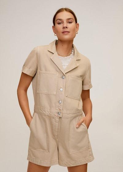 MANGO Overall 'Marta' in beige, Modelansicht