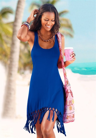BEACH TIME Strandkleid in royalblau, Modelansicht