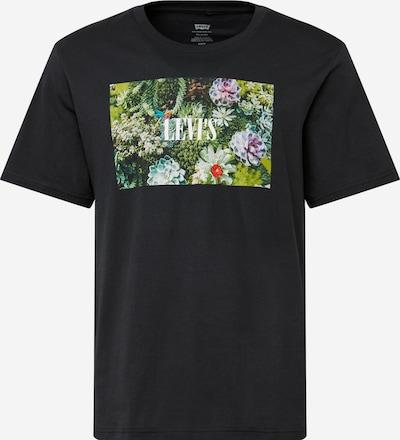 Tricou LEVI'S pe negru: Privire frontală