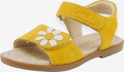 LURCHI Sandale 'Zenzi' in gelb / weiß, Produktansicht