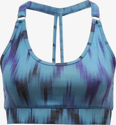 YOGISTAR.COM Yogi-bra 'shiva' - Ikat Aqua in blau, Produktansicht