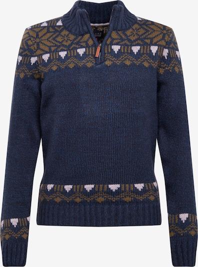 BLEND Pullover in navy / hellbraun / weiß, Produktansicht