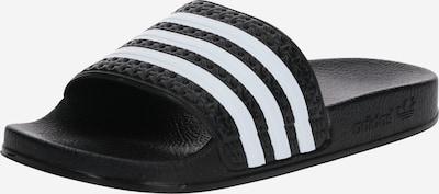 ADIDAS ORIGINALS Pantolette  'ADILETTE J' in schwarz / weiß, Produktansicht