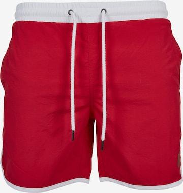 Shorts de bain Urban Classics en rouge