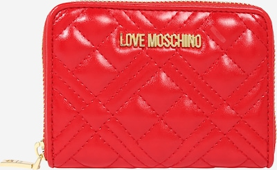 Love Moschino Porte-monnaies en or / rouge sang, Vue avec produit