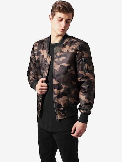 Urban Classics Jacket in braun / dunkelgrau / khaki: Frontalansicht