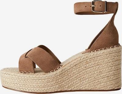 MANGO Sandalette in dunkelbraun, Produktansicht