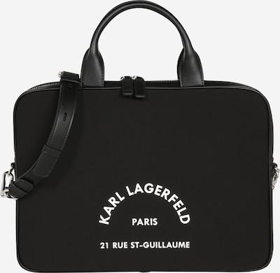 Nešiojamo kompiuterio krepšys 'Rue St Guillaume' iš Karl Lagerfeld , spalva - juoda / balta, Prekių apžvalga