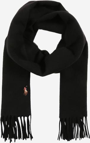 Polo Ralph Lauren Fransenschal 'COLDWEATHER-SIGN IT' aus Wolle в черно