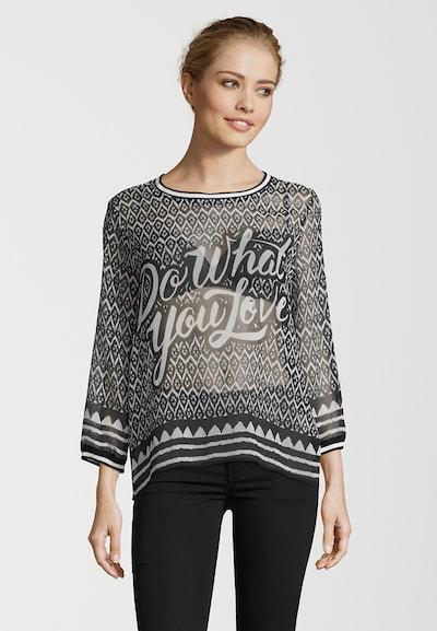 Grace Seidenbluse 'DO WHAT YOU LOVE' in schwarz, Modelansicht