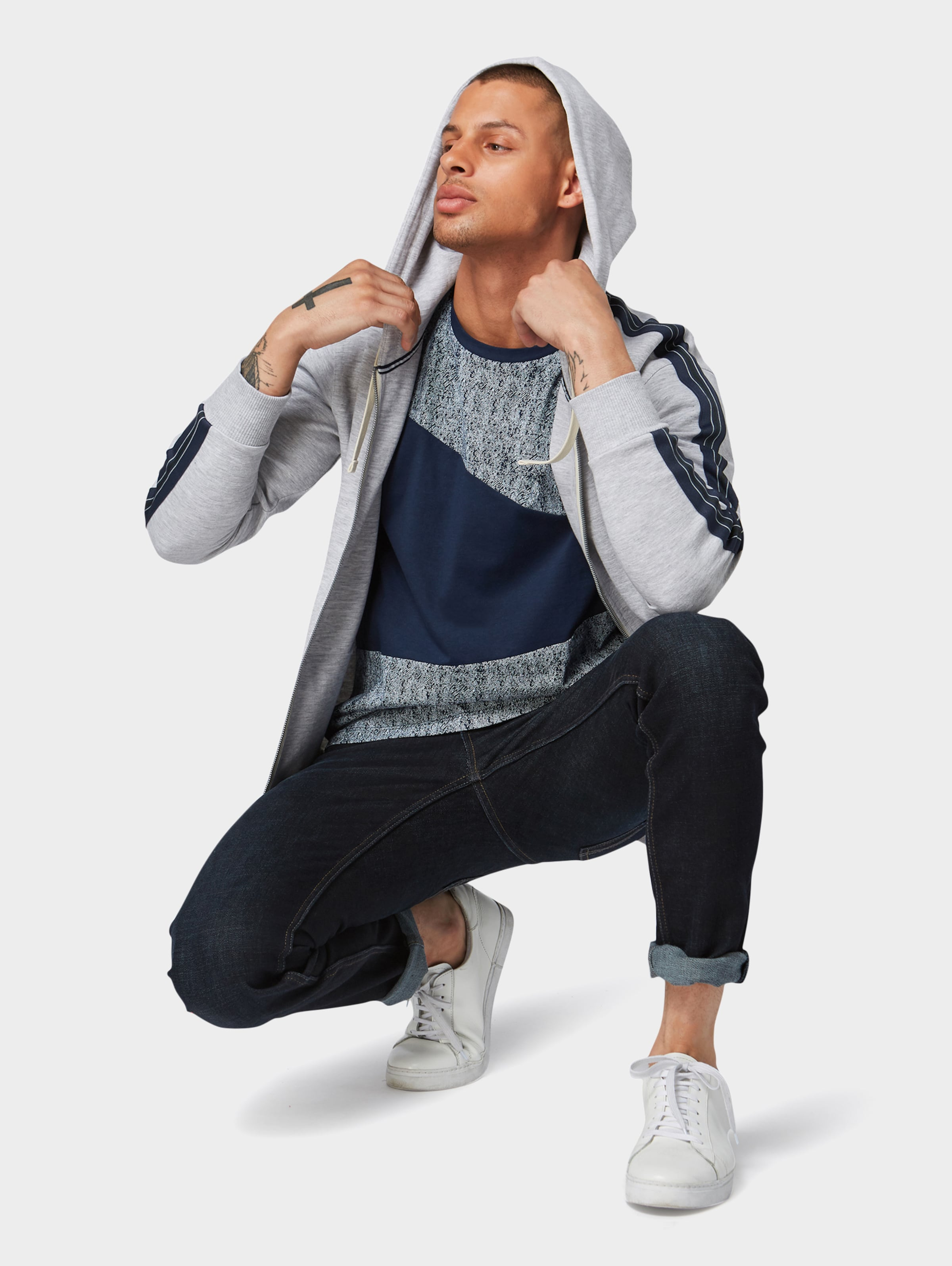Denim In Tom Tailor T Blau shirt 51KcTlJ3uF