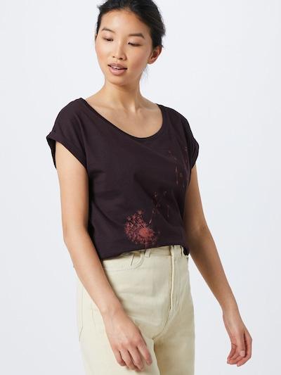 Iriedaily Koszulka 'Pusteblume' w kolorze różany / czarnym: Widok z przodu