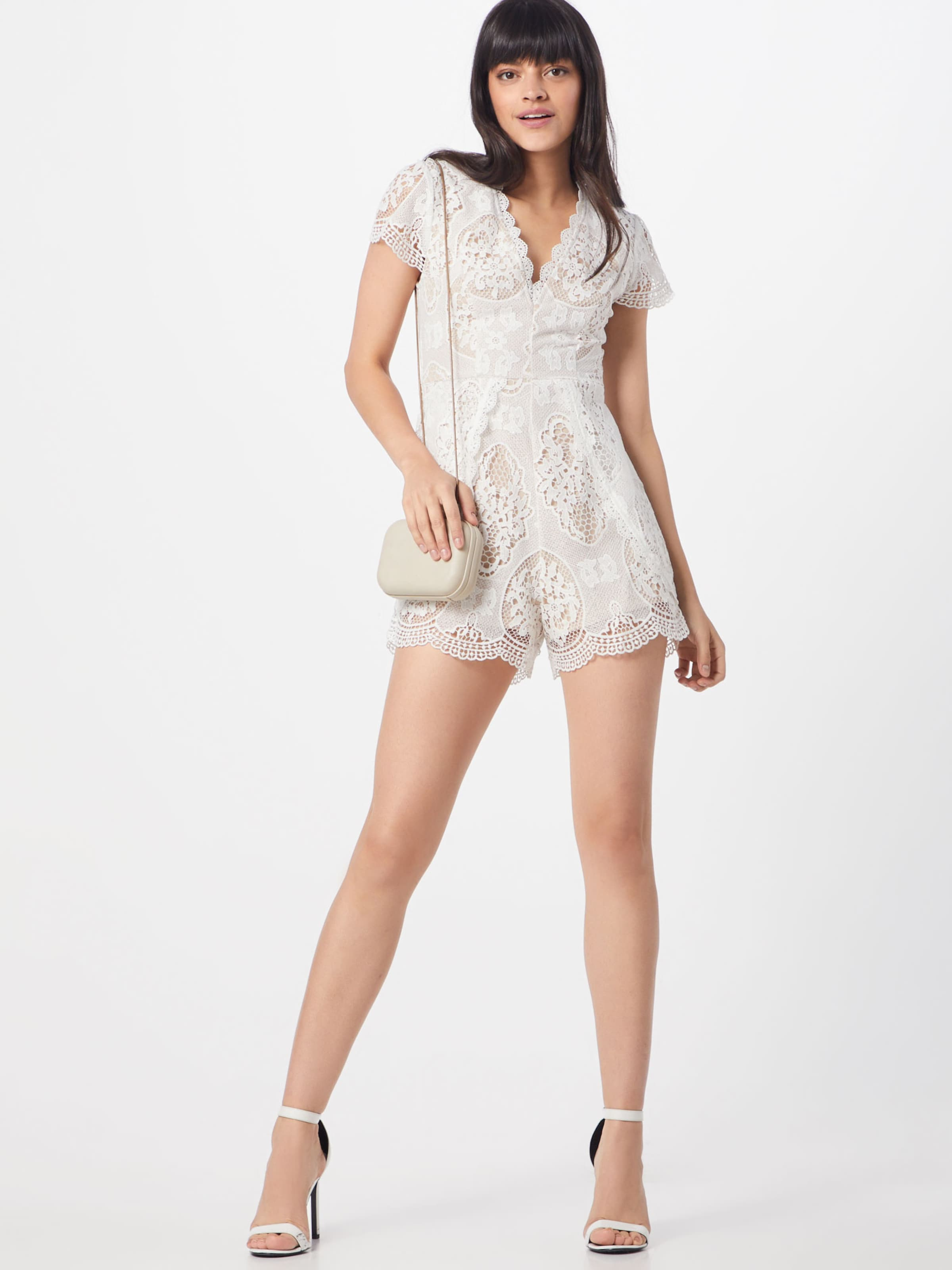 Love Overall Triangle 'in Picture Playsuit' Weiß The In hCtsrdQx