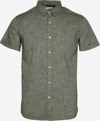 KnowledgeCotton Apparel Hemd ' LARCH SS linen shirt ' in khaki, Produktansicht