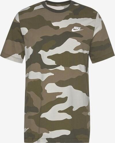Nike Sportswear T-Shirt in braun / grün / weiß, Produktansicht