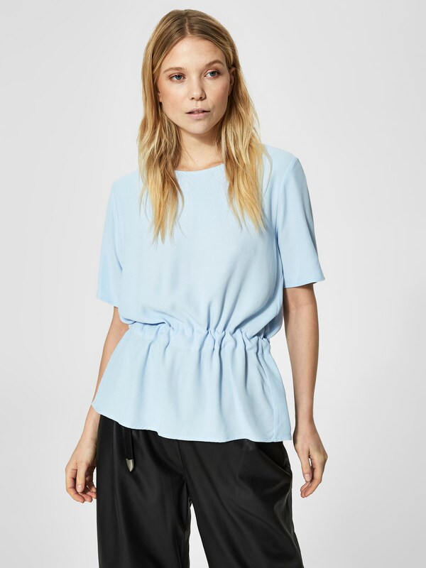 Selected Femme Draped Shell With Short Sleeves