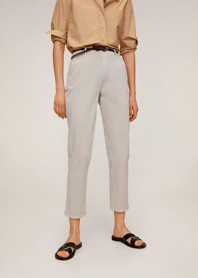 MANGO Chino kalhoty - světle šedá, Model/ka