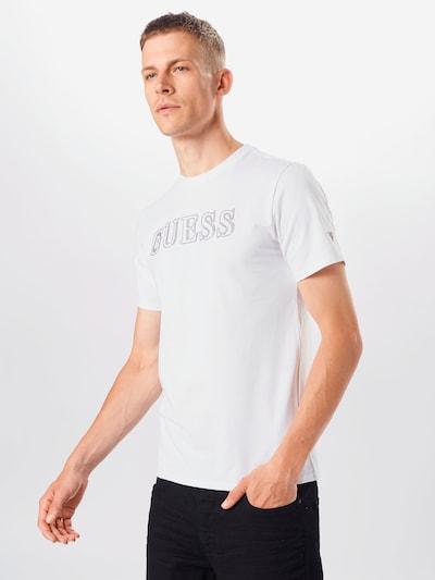GUESS Majica | bela barva, Prikaz modela