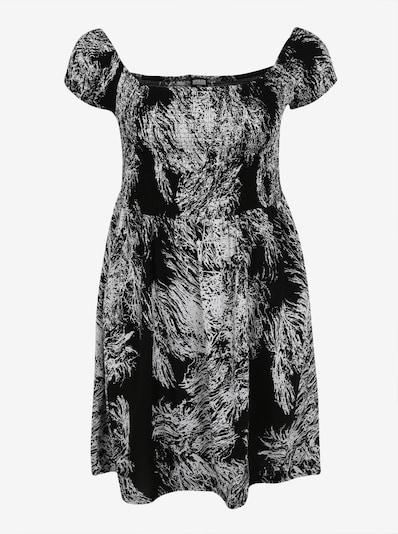 Urban Classics Curvy Jurk 'Smoked' in de kleur Zwart / Wit, Productweergave