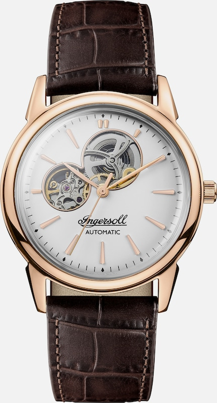 INGERSOLL Automatikuhr 'The New Haven Automatic' in braun / rosegold, Produktansicht