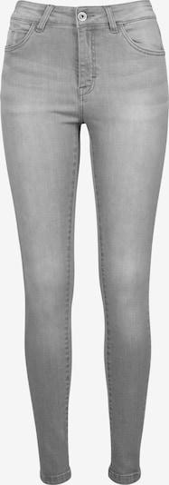 Urban Classics Jeans 'Ladies Skinny Denim Pants' in grey denim: Frontalansicht