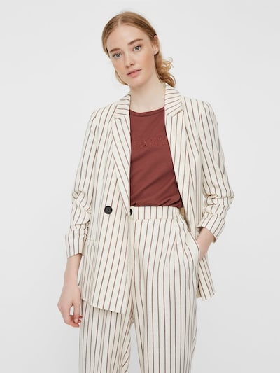 VERO MODA Blazer 'Nelli' in beige / rostbraun, Modelansicht