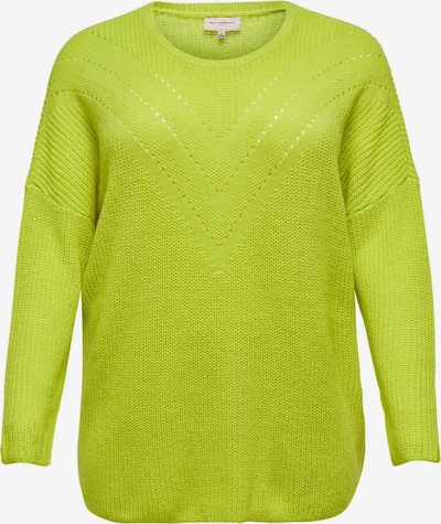 ONLY Carmakoma Strickpullover in hellgrau, Produktansicht
