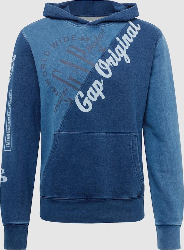 GAP Sweatshirt in indigo   weiß  Freizeit, schlank, schlank
