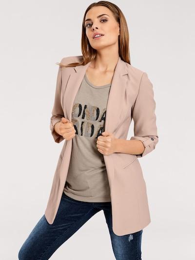 heine Schalkragenblazer in rosé, Modelansicht