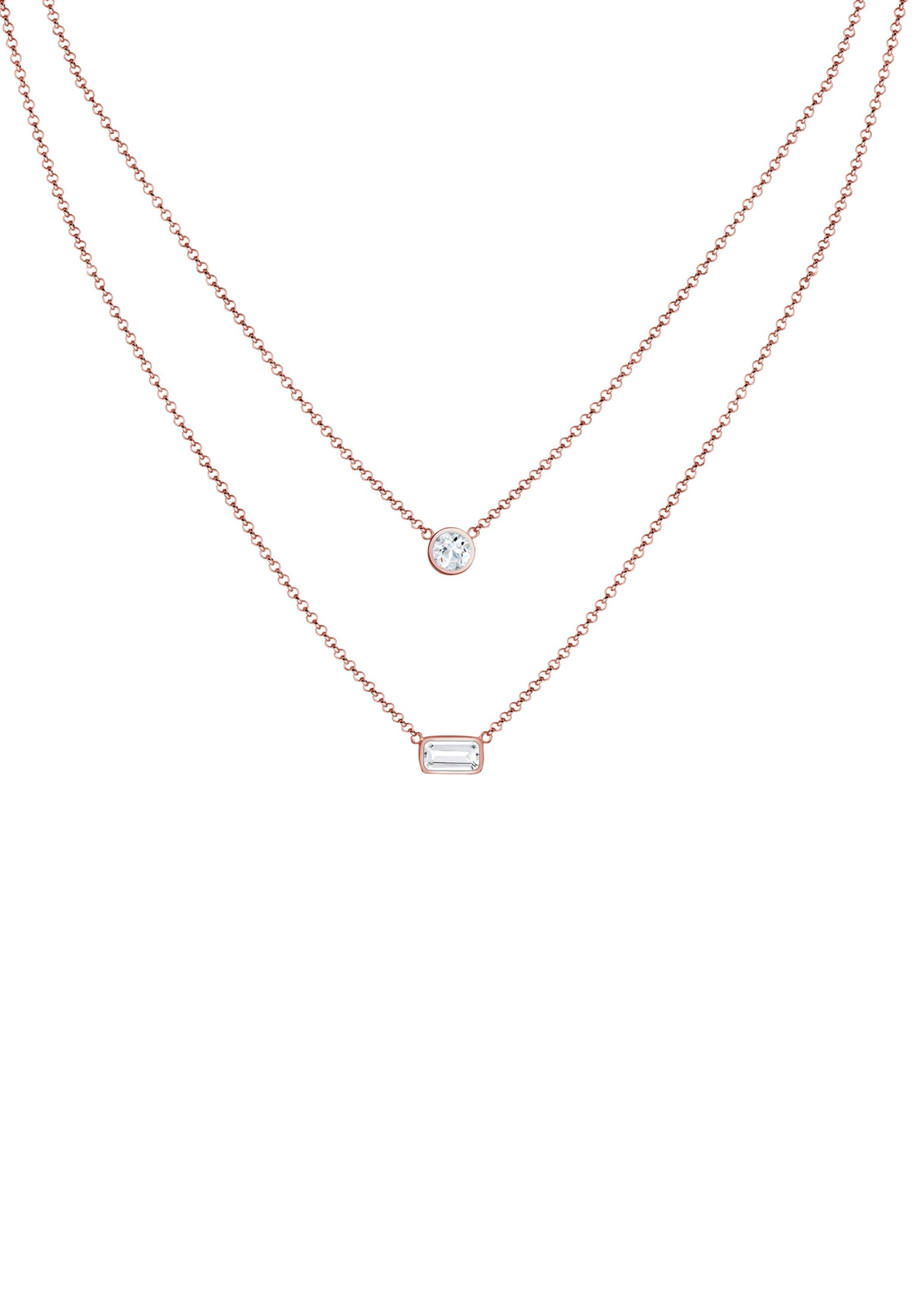 Halskette Premium In Halskette In Premium Elli RosegoldWeiß Elli e2D9WIYEHb