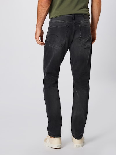 G-Star RAW Jeans '3301 Tapered' in de kleur Black denim: Achteraanzicht
