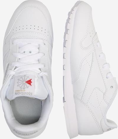 Reebok Classic Sneaker aus strukturiertem Leder in weiß: Seitenansicht