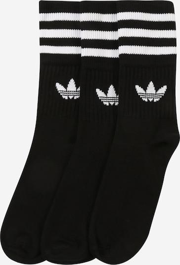 ADIDAS ORIGINALS Socken 'Mid-Cut Crew' in schwarz / weiß, Produktansicht