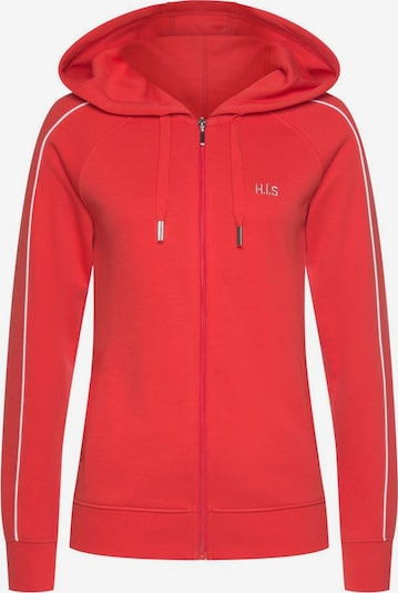 HIS JEANS Kapuzensweatjacke in rot, Produktansicht
