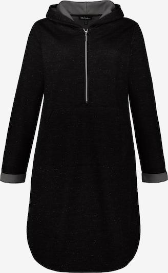 Ulla Popken Jurk 'Kapuzenkleid' in de kleur Zwart, Productweergave