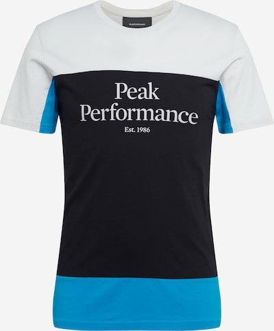 PEAK PERFORMANCE Shirt 'Original Colorblocking' in blau / grau / anthrazit, Produktansicht