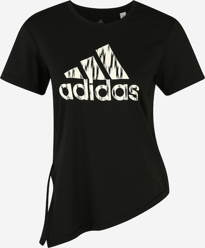 ADIDAS PERFORMANCE Functioneel shirt 'IKAT BOS TEE' in de kleur Zwart / Wit, Productweergave
