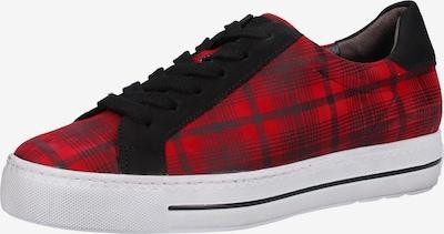 Paul Green Baskets basses en rouge / noir: Vue de face