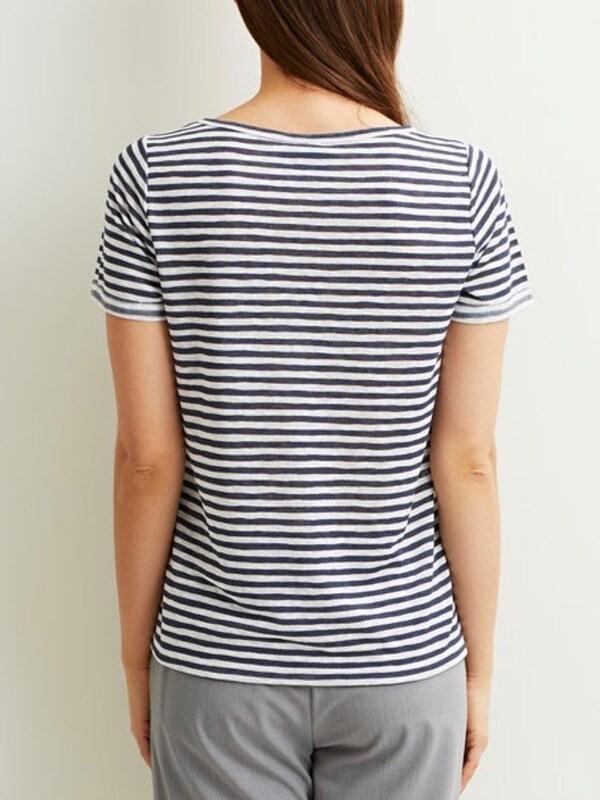 Object Schlichtes T-shirt Objtessi Slub V-neck
