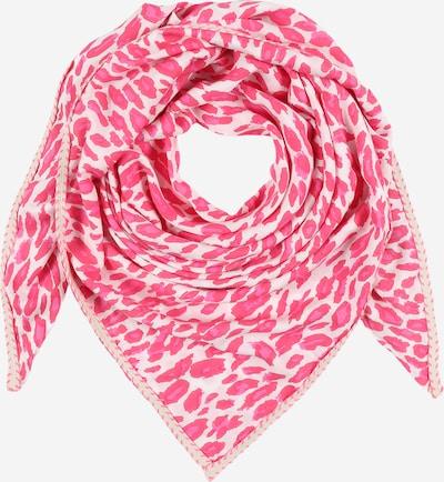 Zwillingsherz Tuch in pink / weiß, Produktansicht