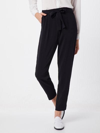SAINT TROPEZ Hose 'R5005, BELTED PANT' in schwarz, Modelansicht