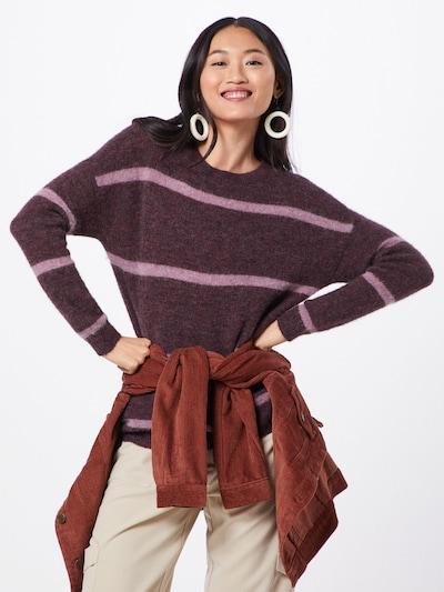 MOSS COPENHAGEN Pullover 'Femme Alpaca Stripe Pullover' in weinrot, Modelansicht