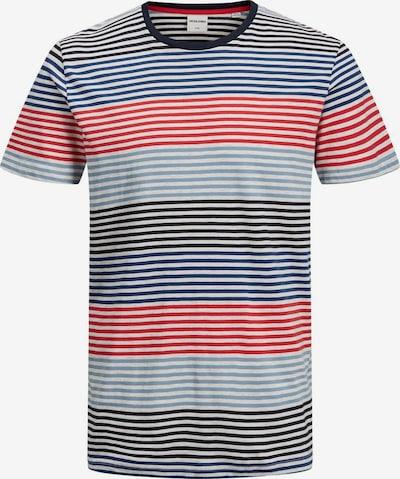 JACK & JONES T-Shirt en bleu / rouge / noir / blanc, Vue avec produit