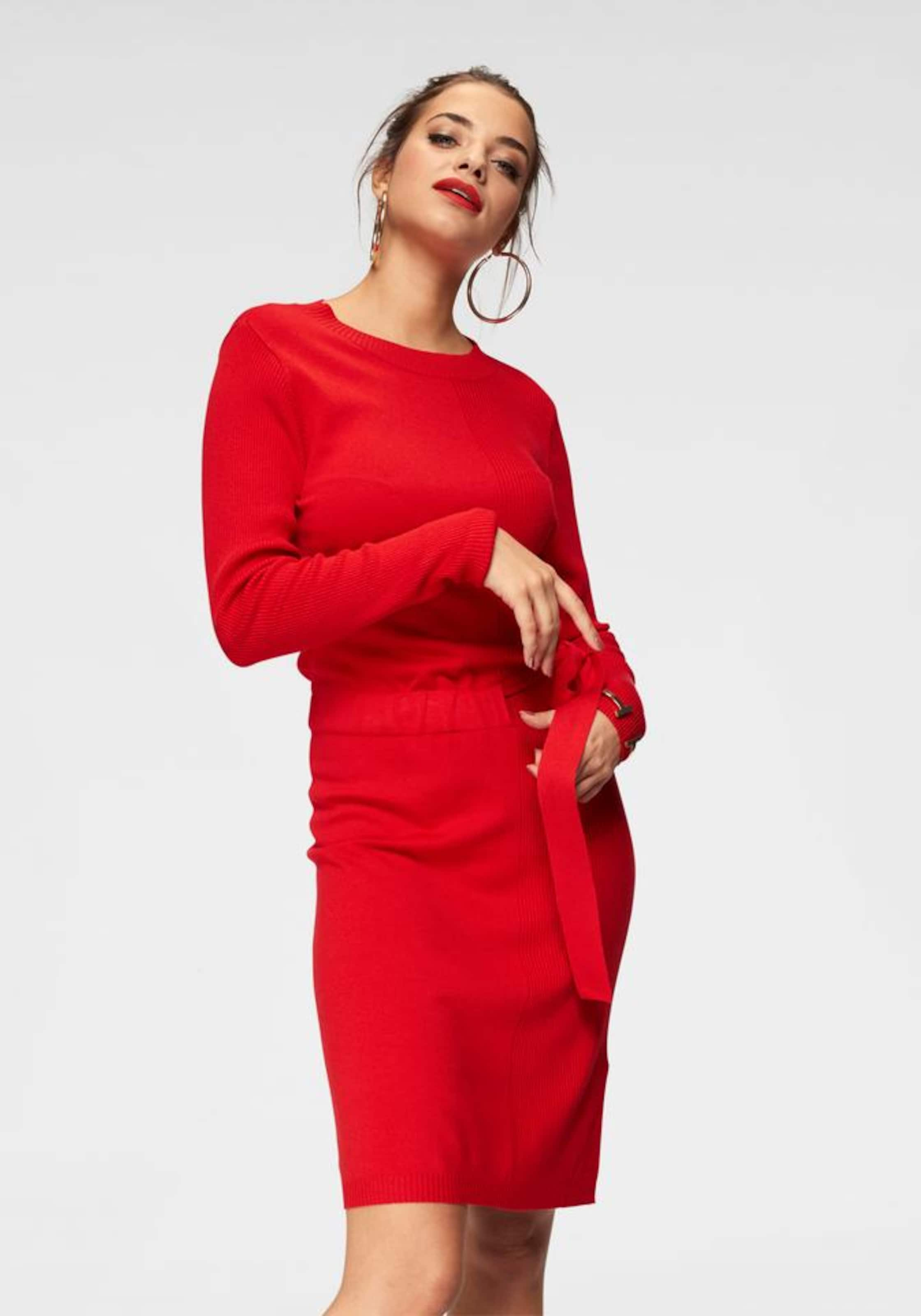 Yong In Rot Jacqueline 'phill' De Strickkleid ED2HYe9WI