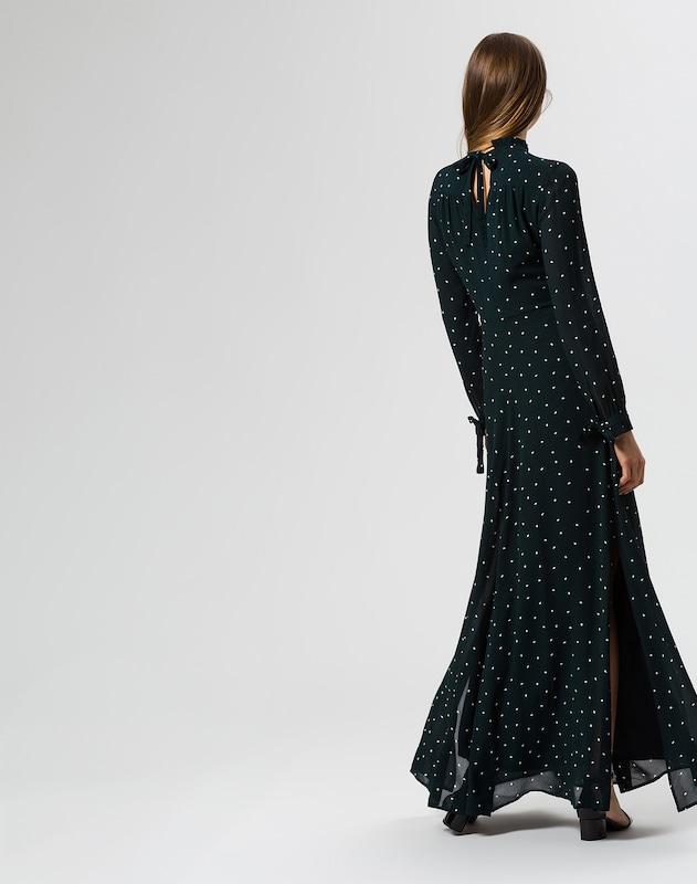 IVY & OAK Kleid 'Stand-up Collar Ruffle Dress'