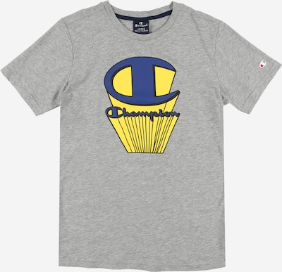 Champion Authentic Athletic Apparel T-Shirt in blau / gelb / graumeliert: Frontalansicht